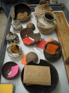 Cataloged Artifacts (not actual NAGPRA items).